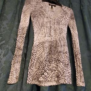 Bcbgmaxazria ladies long sleeve blouse size XS